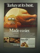 1984 Louis Rich Breast of Turkey Ad - At Its Best
