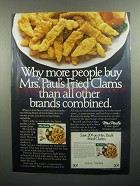 1984 Mrs. Paul's Fried Clams Ad - More People Buy