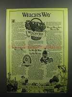 1984 Welch's Grape Juice Ad - Welch's Way