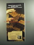 1984 Hershey's Cocoa Ad - Deep-Dish Brownie Recipe