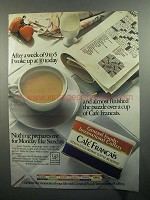 1984 General Foods International Coffees Ad - Woke Up