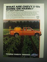 1984 Chevy S-10 Truck Ad - Doing On Farms