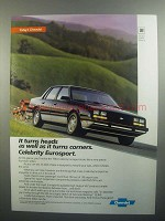 1984 Chevrolet Celebrity Eurosport Ad - It Turns Heads