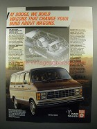 1984 Dodge Ram Value Wagon Ad - Change Your Mind