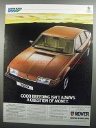 1984 Rover 2000 Car Ad - Good Breeding