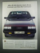1984 Audi 4000s Sports Sedan Ad - Who Knows More