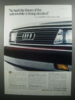 1984 Audi Cars Ad - The Future Is Being Decided