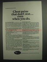 1984 Pfizer Pharmaceuticals Ad - Chest Pains Don't Rest