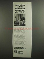 1984 American Heart Association Ad - Knock You Down