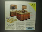 1984 Lowe's Custom Kitchen Cabinets Ad