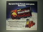 1984 Minute Maid Fruit Punch Ad - Tastes Great