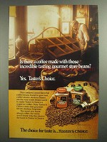 1984 Taster's Choice Coffee Ad - Gourmet Store Beans