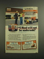 1984 U-Haul Rental Centers Ad - Will Not Be Undersold