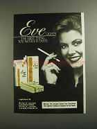 1984 Eve Lights Cigarettes Ad - First Thing You Notice