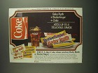 1984 Baby Ruth, Butterfinger Candy & Coca-Cola Soda Ad