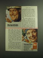 1984 Post 40% Bran Flakes Ad - Why Do We Prefer?