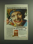 1984 Post 40% Bran Flakes Ad - Why Do I Prefer?
