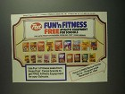 1984 Post Cereal Ad - Fun'n Fitness
