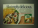 1984 Hidden Valley Ranch Dressing Mix Ad - Shrimp Salad