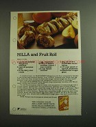 1984 Nabisco Nilla Wafers Ad - Nilla and Fruit Roll
