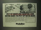 1984 Onduline Roofing Ad - Never Put Up With Rust
