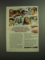 1984 Bausch & Lomb 30 Day Lens Contacts Ad