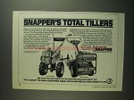 1984 Snapper Front Tine and Rear Tine Tillers Ad