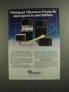 1984 Whirlpool Microwave Ovens Ad - Fit Most Spaces