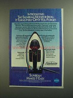 1984 Sunbeam Monitor Iron Ad - Turns Itself Off