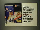 1984 Purina Cat Chow and Kitten Chow Cat Food Ad