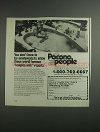 1984 Pocono Resorts Ad - Don't Have to Be Newlyweds