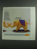 1984 Steiff Felt Elephant Ad - Know You're Collectable