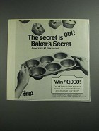 1984 Baker's Secret Bakeware Ad - The Secret it Out