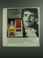 1984 English Leather Musk Cologne Ad - When You're Bold