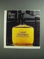 1984 Liquid Neutrogena Ad - Pure Care