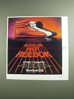 1984 Reebok Freestyle Hi-Top Shoe Ad - Sizzlin' Hot