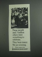 1984 American Cancer Society Ad - To Celebrate