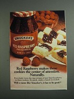 1984 Smucker's Red Raspberry Preserves Ad - Cookies