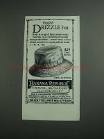 1984 Banana Republic English Drizzle Hat Ad