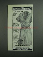 1984 Banana Republic Tropical Dress Ad