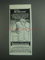 1984 Banana Republic Hooded Bush Vest Ad