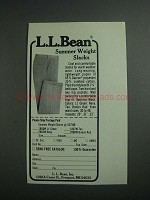 1984 L.L. Bean Summer Weight Slacks Ad