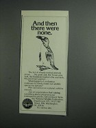 1984 National Wildlife Federation Ad - There Were None