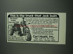 1984 Carl Heald Ad - This is The Truck that Jack Built