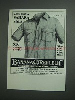 1984 Banana Republic Sahara Shirt Ad