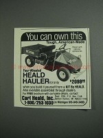 1984 Carl Heald Hauler Ad - You Can Own This