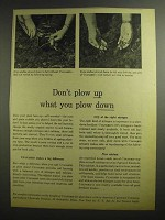1955 American Cyanamid Ad - Don't Plow Up