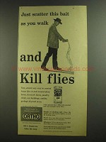 1955 Ortho Fly Killer Dry Bait Ad - Kill Flies