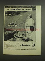 1955 Jacobsen 21-inch Rotary Mower Ad - Of Course