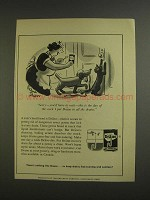 1955 Drano Cleaner Ad - Cartoon by Richard Decker